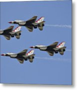 The U.s. Air Force Thunderbirds Fly Metal Print
