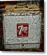 7 Up Vintage Cooler Metal Print