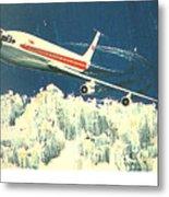 707 In The Air Metal Print