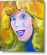 70's Blue Eyed Blonde Metal Print
