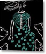 Dinka Bride South Sudan Metal Print