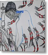 Kintu And Nambi  Folktale Metal Print