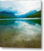 Nature Landscape Oil Metal Print