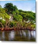 Nature Original Landscape Painting Metal Print
