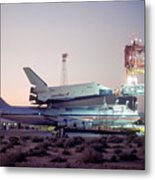747 With Space Shuttle Enterprise Before Alt-4 Metal Print