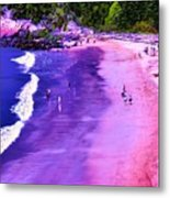 74f Bright Beach Metal Print