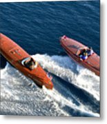 Classic Wooden Runabouts Metal Print