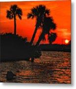 75 Island Sunset Metal Print