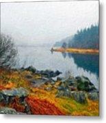 Landscape Drawing Nature Metal Print