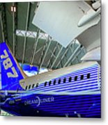 787 Tail Section Metal Print