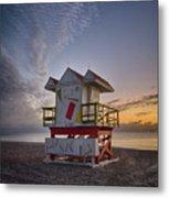 7898- Miami Beach Sunrise Metal Print