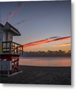 7935- Miami Beach Sunrise 14x25 Metal Print