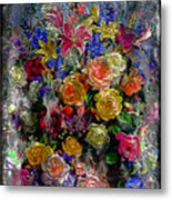 7a Abstract Floral Painting Digital Expressionism Metal Print