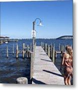 Indian River Lagoon At Eau Gallie In Florida Usa Metal Print