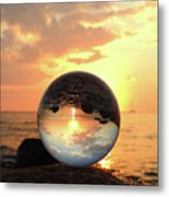 8-26-16--5927 Don't Drop The Crystal Ball, Crystal Ball Photography Metal Print