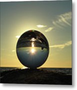 8-30-16--6270 Don't Drop The Crystal Ball, Crystal Ball Photography Metal Print