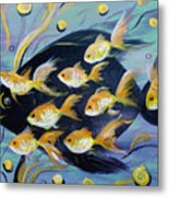 8 Gold Fish Metal Print