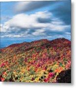 Beautiful Autumn Landscape In North Carolina Mountains Metal Print