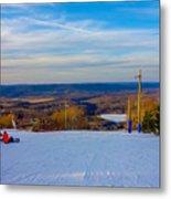 Beautiful Winter Landscape At Timberline West Virginia Metal Print