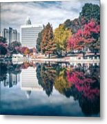 Charlotte North Carolina Cityscape During Autumn Season Metal Print