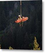 Climber Rescue Operation In Yosemite Metal Print