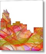 Durham North Carolina Skyline Metal Print