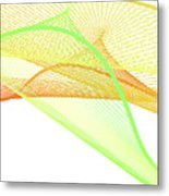 Dynamic And Bright Linear Spiral With Colorful Gradient Metal Print