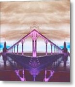 Lighthouse Reflections Metal Print