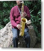 Muslim Jazz Musician. Metal Print