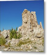 Natural Rock Formation At Mono Lake, Eastern Sierra, California, Metal Print
