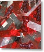 8 Red Objects Metal Print