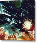 Star Wars Galactic Heroes Art Metal Print
