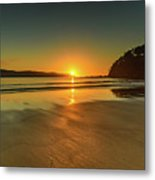 Sunrise Seascape From The Beach Metal Print