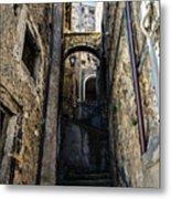 Walking Through The Streets Of Pretoro - Italy  Metal Print
