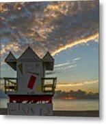 8003- Miami Beach Sunrise Metal Print