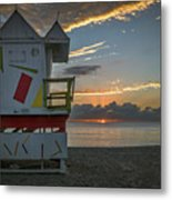 8041- Miami Beach Sunrise Metal Print
