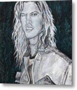 80's Rock Metal Print by Viktoria Tormassy
