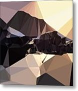 Abstract Art Landscape Of Triangles Metal Print