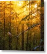 Nature Oil Painting Landscape Metal Print