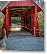 8350- Campbell's Covered Bridge Metal Print