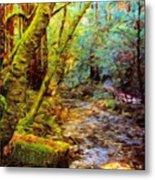 Nature Oil Painting Landscape Metal Print