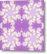 Fractal Floral Pattern Metal Print