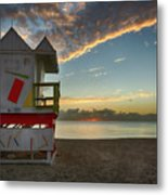 8990- Miami Beach Sunrise Metal Print