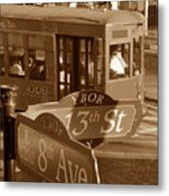 8th Ave Trolley Metal Print