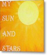 8x10 My Sun And Stars Metal Print