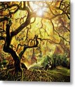 9 Abstract Japanese Maple Tree Metal Print