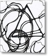 Abstract Pencil Pattern Metal Print