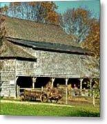 Hallockville Farm Barn Li.ny Metal Print