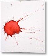Blood Droplet Metal Print