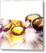 Colorful Gems Metal Print